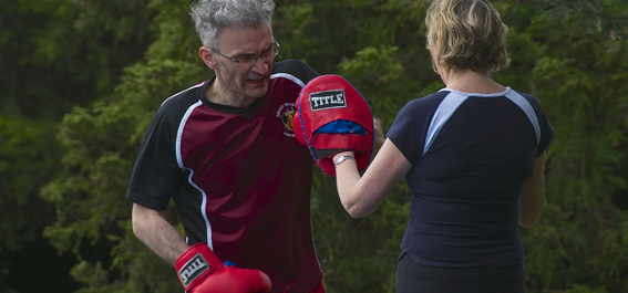 Boxing Padwork with Sarah Overall Fitness and Nutrition