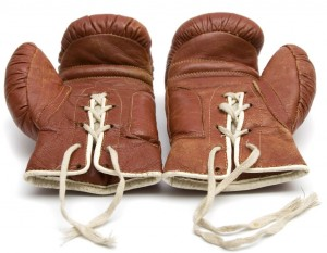 Boxing gloves that could be used in a tabata work out